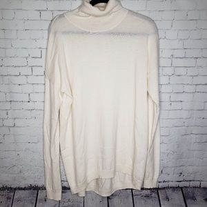 EUC Cream Gap M Tall Turtleneck Sweater Tunic